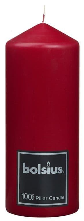 Bolsius Pillar Candle - 198/78 Red